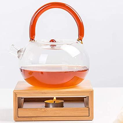 UPKOCH Bamboo Teapot Warmer